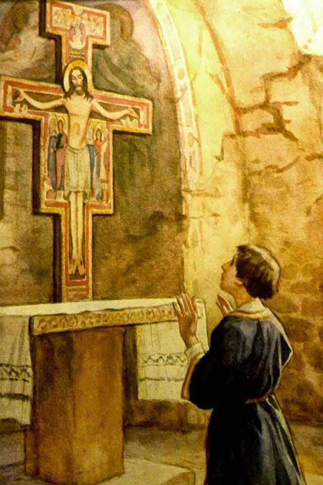 St Francis and the Crucifix